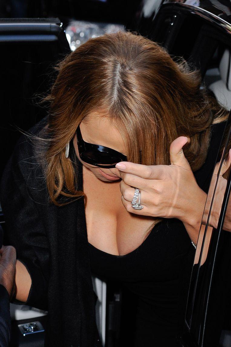 Mariah kan aanspraak maken op de verlovingsring met het meeste diamanten: 59.