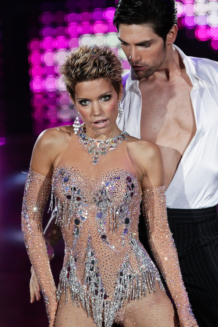 Sylvie in Let's Dance in 2010, na haar chemobehandelingen