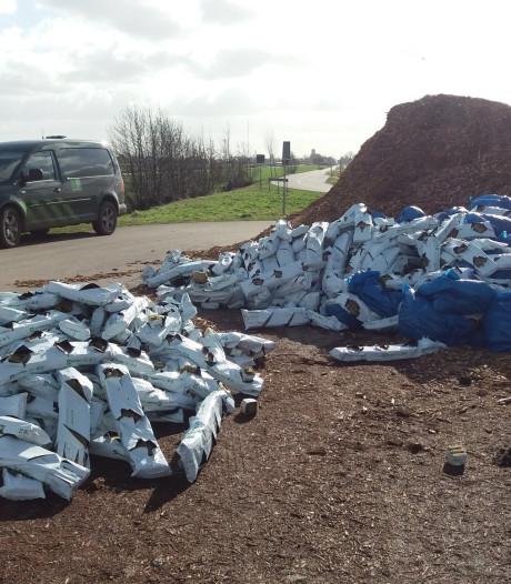 Grote hoeveelheid drugsafval gedumpt langs Damweg in Oudewater