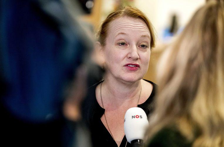 Eugenie Stolk, de nieuwe voorzitter van onderwijsvakbond AOb.  Beeld ANP