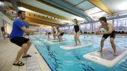 Fitnessen op aquabase in zwembad