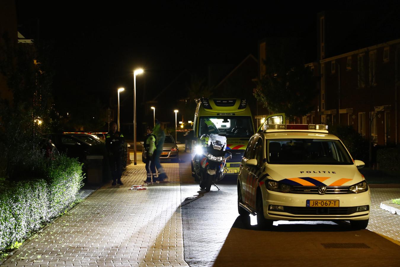 Van Disselstraat Zwolle met linten afgezet.
