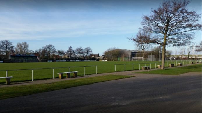 Het voetbalveld in Colijnsplaat/