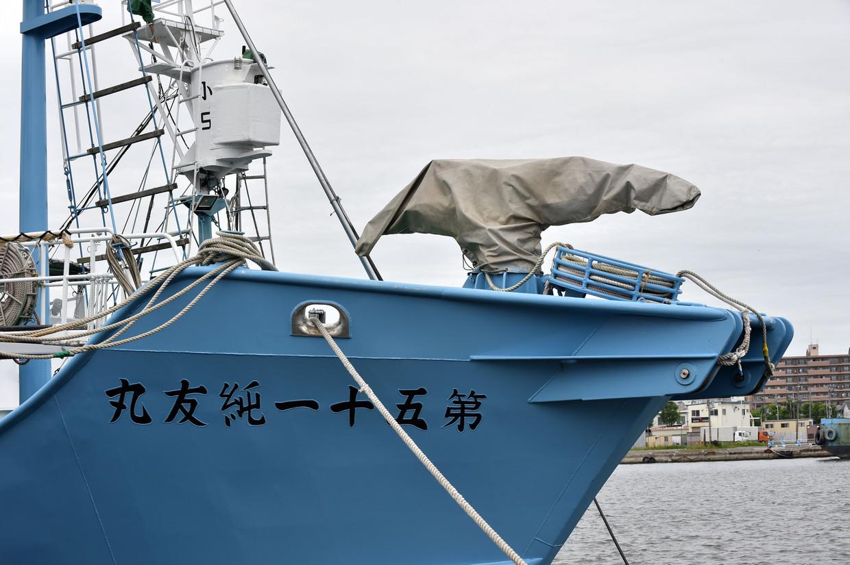 Een Japans schip ligt klaar voor de walvisvangst.