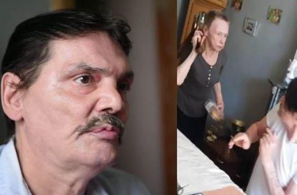 De 57-jarige François Tambour wordt al sinds zijn geboorte door zijn moeder mishandeld. Zelfs nu de vrouw 84 jaar oud is, gaat ze hem nog geregeld te lijf met een riem of mes.