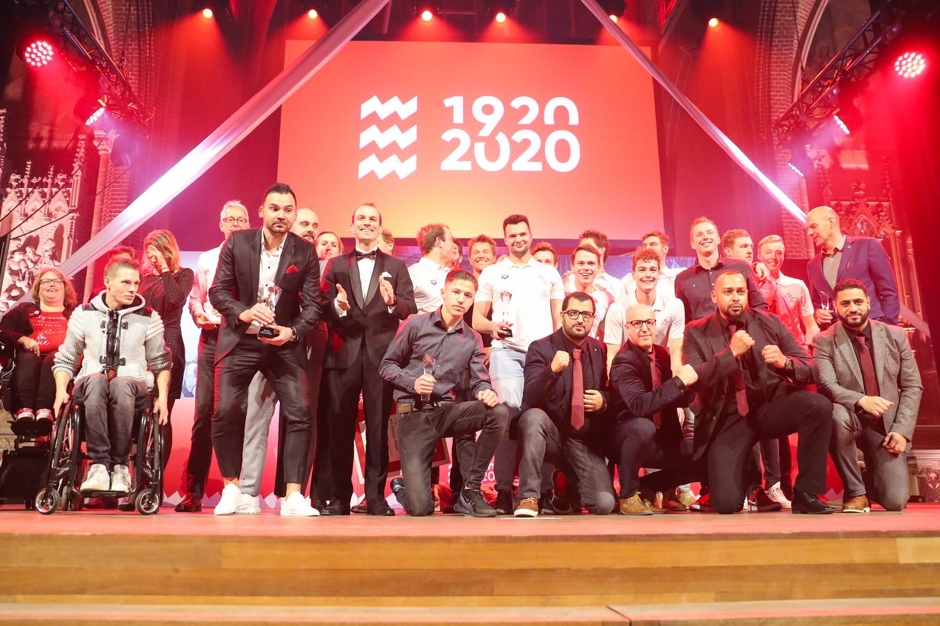 Huldiging van de Eindhovense sportkampioenen, afgelopen maandag.