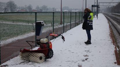 Trein botst met sneeuwruimer op perron Kijk Uit in Kalmthout