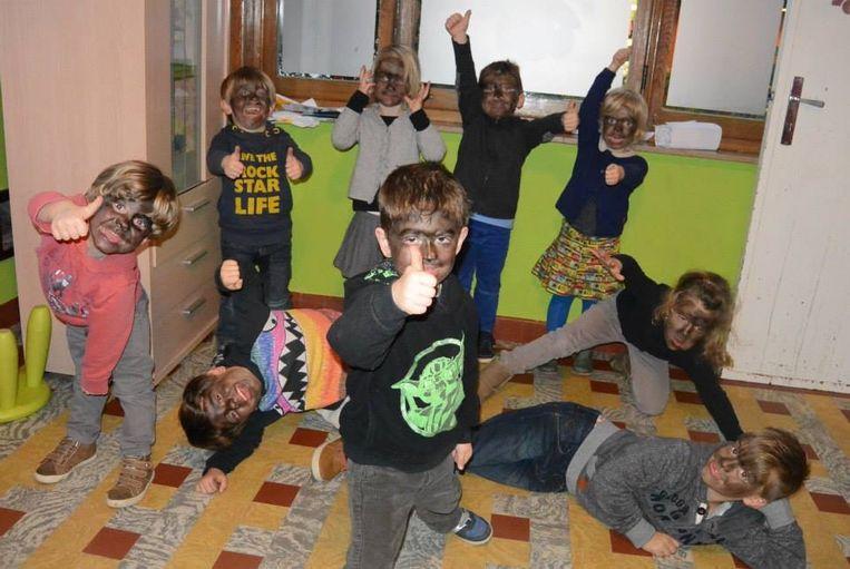 De kinderen in De Ukkies in betere tijden