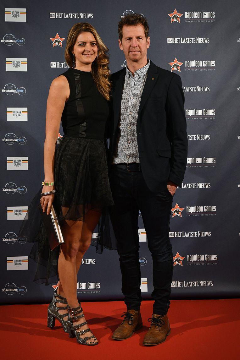 Claudia Van Avermaet met Rik Verbrugghe.