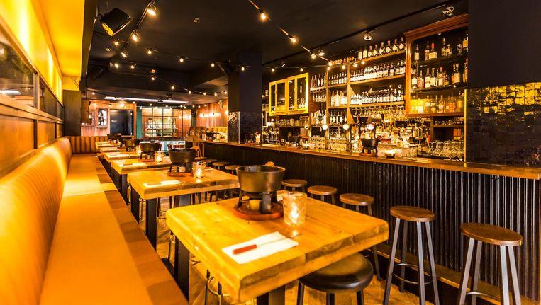 Restaurant Fondue Oost doet aan als een bistro Beeld Eva Plevier