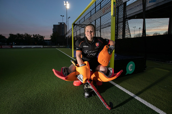 Saskia van Duivenboden is sinds dit seizoen keepster van Oranje-Rood.
