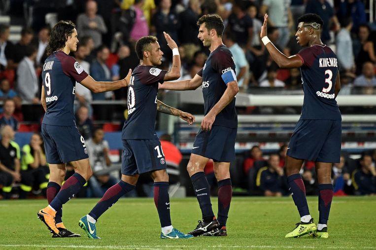 Voor de komst van Neymar had Qatar al 800 miljoen euro geïnvesteerd in transfers en de renovatie van het Parc des Princes. Beeld epa