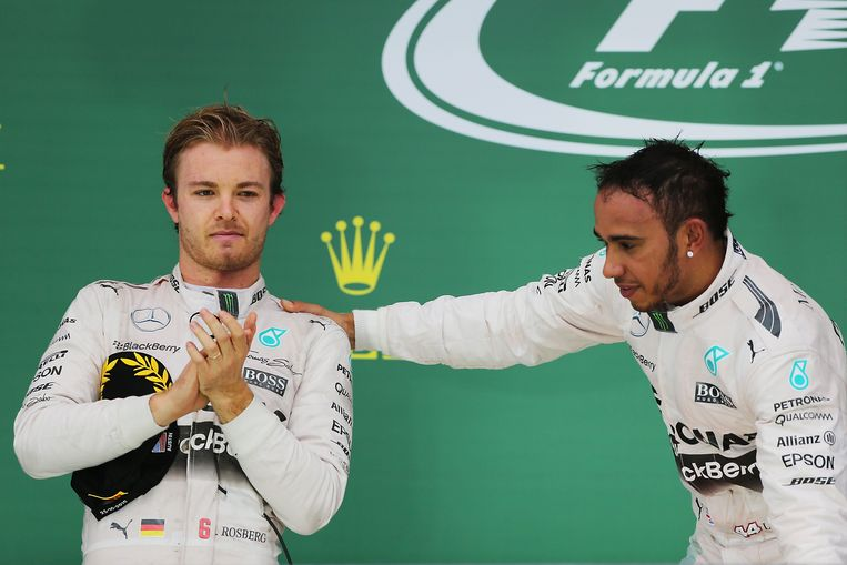 Nico Rosberg (l) werd wereldkampioen in 2016.