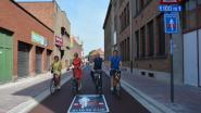 Allereerste fietsstraat officieel ingefietst