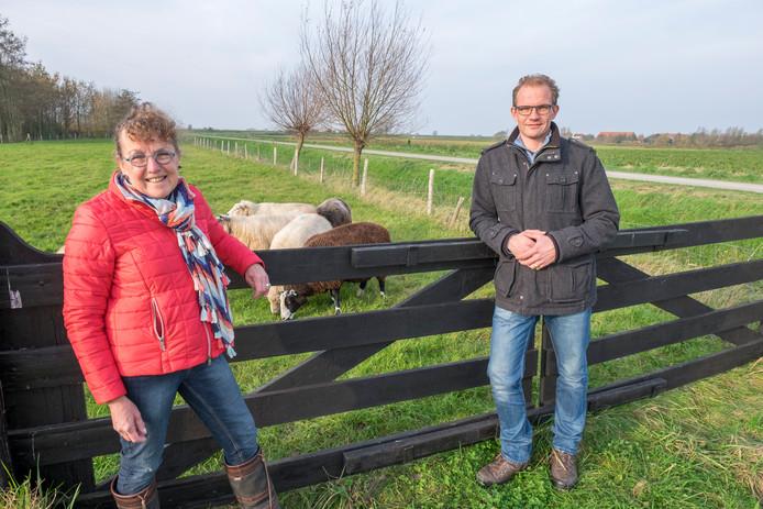Anja van der Bijl en zoon Martijn van camping Zonnehoeve.