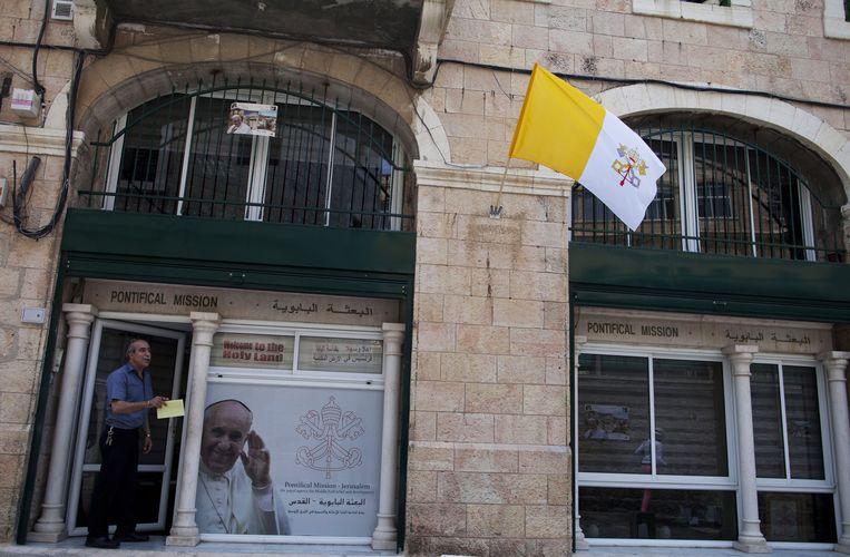 De oude stad van Jeruzalem maakt zich op voor het bezoek van paus Franciscus.