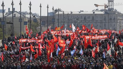 Meer dan 100.000 deelnemers aan 1 meibetoging in Moskou